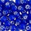 Seedbead Cornelian White Star 32/0 Dark Blue